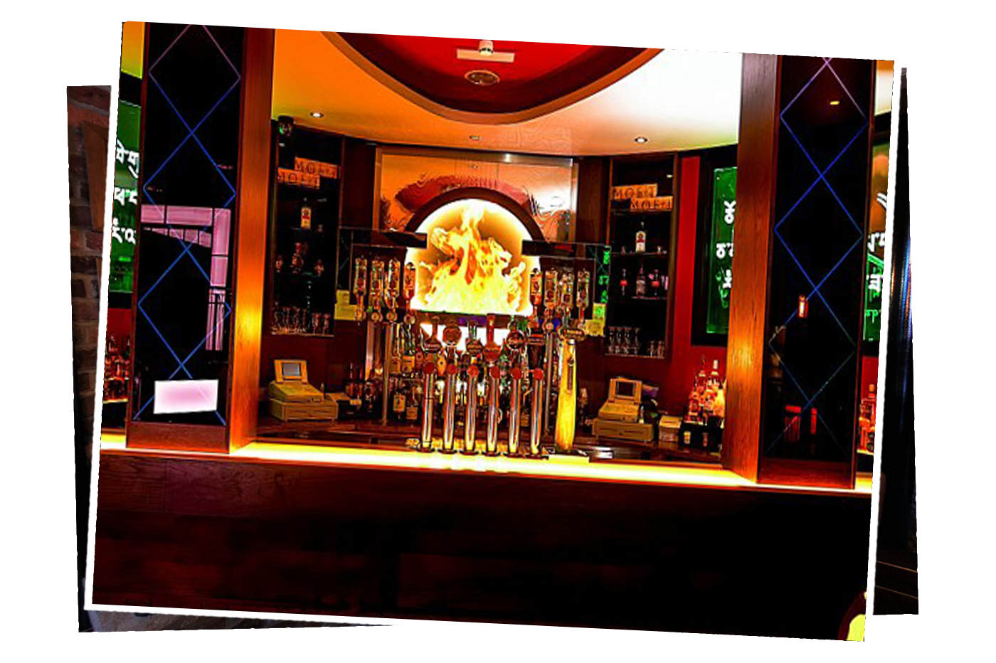 The Black Lion Smirnoff Bar