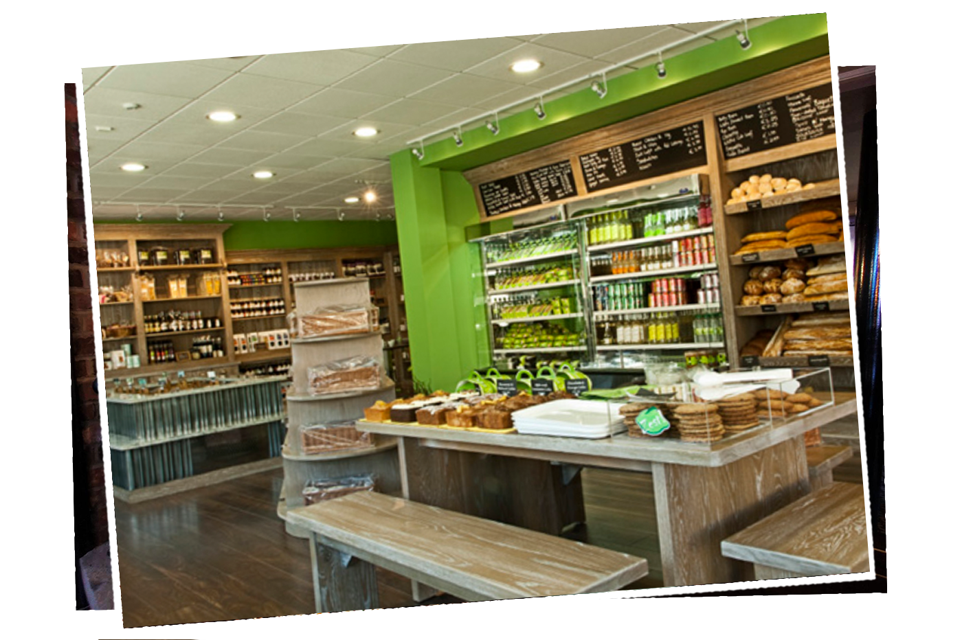Zest counter and shelves