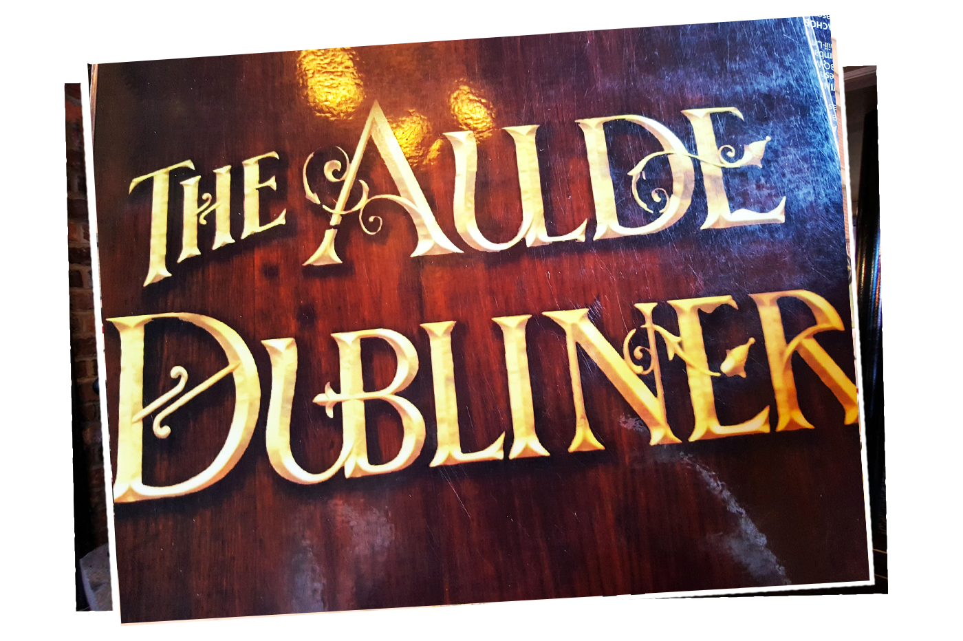 The Aulde Dubliner wooden sign